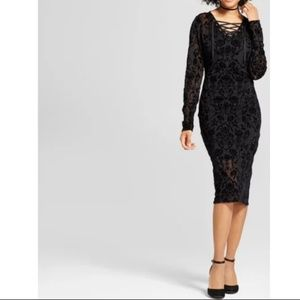 Xhilaration Black Lacey Dress